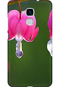 AMEZ designer printed 3d premium high quality back case cover for Huawei Honor 5C (Flower-Bleeding-Heart-)