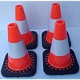 SNS - Juego de conos de tráfico (4 unidades, 30 cm)