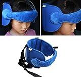Haorw baby kopfstütze, Schlaf Stellungsregler Kinderwagen Kindersitz Befestigung Riemen Kopf Halter (blau)