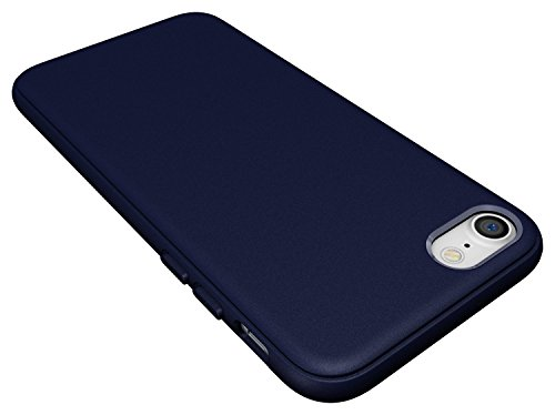 Diztronic DIZ019 TPU Hülle für Apple iPhone 7 pixlee-orange Matte Navy Blue