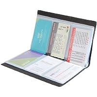 Porta biglietti da visita Custodia a credito, a portafoglio, in pelle, colore: nero