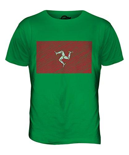 CandyMix Isle Of Man Kritzelte Flagge Herren T Shirt Grün