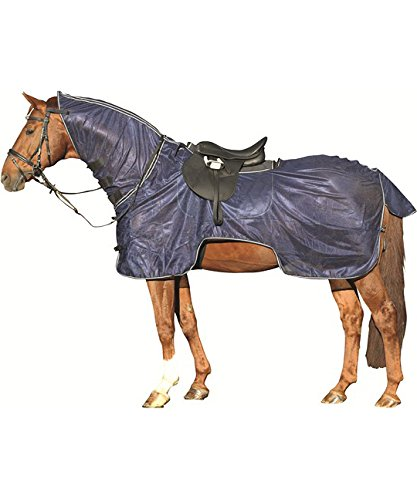 Image of HKM Lightweight Fly Ride-On Sheet/Rug Combo Protect from Flies/Insect, 5.3 to 7.3-Inch