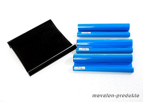 Mevalon-Produkte 4x kompatible Thermotransferrolle ersetzt Brother PC-72RF / PC-71RF , je 144 Seiten, schwarz
