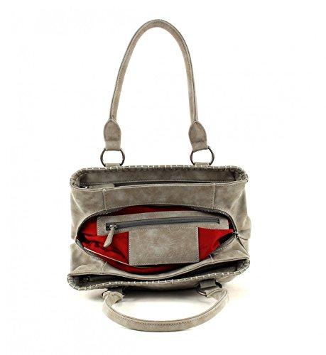 Fritzi aus Preußen Annika Vintage Borsa a spalla 30cm Metal (Grigio)