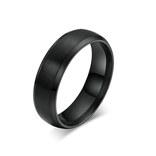 41Pt9LiaGPL UK BEST BUY #1Aooaz Free Engraving Ring Black Stainless Steel Ring Wedding Bands For Women Men Novelty Ring Size I 1/2 price Reviews uk