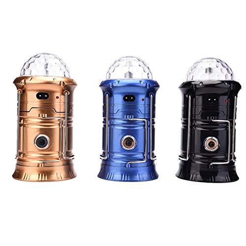 WG 3 in 1 Camping Lampe led außenleuchte wiederaufladbare klappbar 360 Grad drehbar farb bühnenlicht Lampe Taschenlampe Beleuchtung Werkzeug mit Griff,5802black