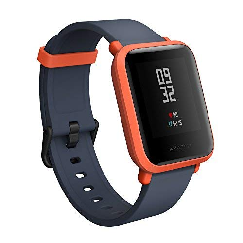 Amazfit Bip Smartwatch with All-Day Heart Rate and Activity Tracking, Sleep Monitoring, GPS, Ultra-Long Battery Life, Bluetooth (Orange)