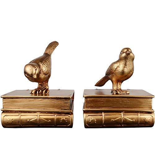 GFF Bücherregal Studie Ornamente Retro Vogel Buchstützen Kreative Bücherregal Dekor Buchstützen Heimtextilien Buchstütze American Book of Acacia Vogel Buch Datei -
