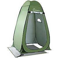 WolfWise Tienda de Campaña Tent Abrir Cerrar Automáticamente Pop Up Portable Sirve Para Camping Playa Bosques Zonas de montaña Ducha Aseo Carpas Vestidor Azul /Camuflaje /Verde