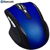 Ratón Bluetooth, EONANT 3.0 Ratón Portátil con Ratón USB Inalámbrico Recargable Silencio y Silencioso Haga Clic para Notebook, PC, Computadora Portátil, Computadora, Windows / Android Tablet, Macbook (Azul)