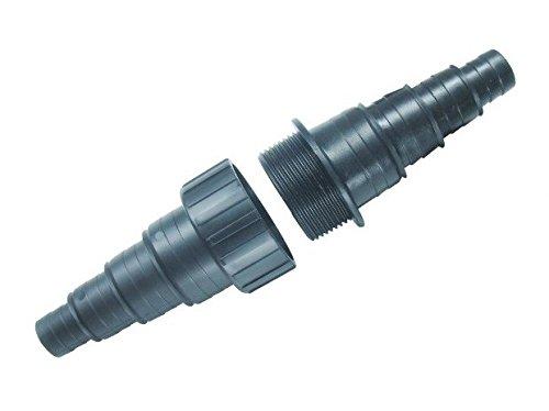 Aquaristikwelt24 CMT-101 Schlauchverbinder 20/25/32/40mm Verbinder Teichschlauch Bachlauf Teich