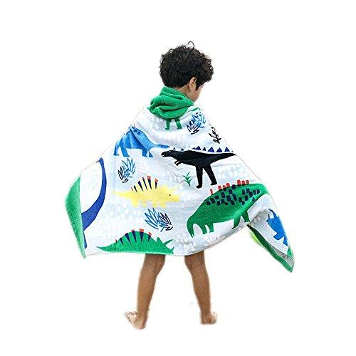Gifts Treat Kinder Handtuch mit Kapuze, Jungen Mädchen saugfähigen Baumwolle Bademantel Decke, Strand Bad Schwimmen Handtuch (Dinosaurier, einheitsgröße)