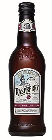 John Crabbies Raspberry Ginger Beer, 330 ml, Pack of 12