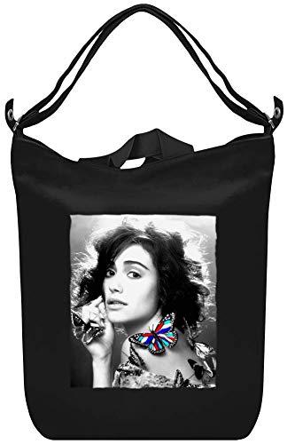 Emmy Rosum Bunter Schmetterling - Emmy Rosum Colorful Butterfly Canvas Day Bag Custom Printed Handbag Fashion Accessory For Men & Women