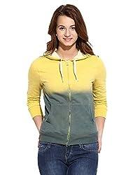 Campus Sutra Women Zipper Hoodie(AW16_ZHSPR_W_PLN_YEDN_XL)