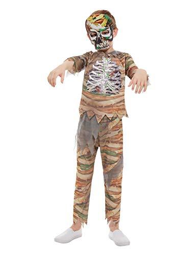 Kostüm Zubehör Mumie - Smiffys 51073M Zombie-Mumie Kostüm, Jungen, Creme, M - Alter 7-9 Jahre