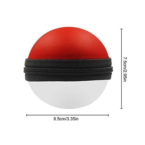 leegoal Poke Ball Coque de Protection, Portable, Housse de Transport Accessoire de Sac pour Pokémon Lets Go Pika-chu Évolie (Non Inclus Poke Ball)
