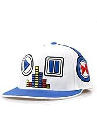 LOCOMO Men Women Hip Hop Embroidered Music Player Baseball Brim Cap FFH055