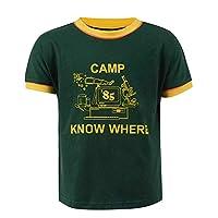 BellaPunk Boys Yellow Green T-Shirt Dustin Cosplay Stranger Season 3 Costume (14Years, T-Shirt)
