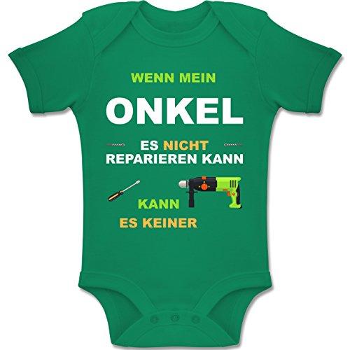 Shirtracer Strampler Motive - Wenn Mein Onkel es Nicht reparieren kann kann es keiner - 1-3 Monate - Grün - BZ10 - Baby Body Kurzarm Jungen Mädchen