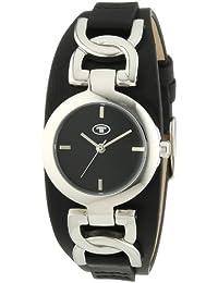 TOM TAILOR Damen-Armbanduhr XS Analog Quarz Leder 5411101