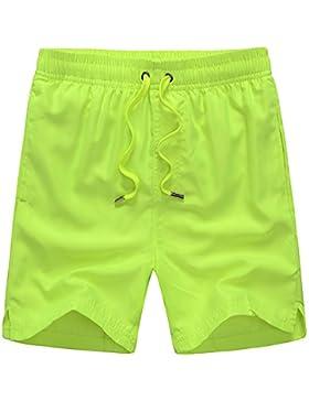 Limin Pantalones cortos de playa de color sólido verano nuevos hombres de velocidad de surf multicolor XL par...