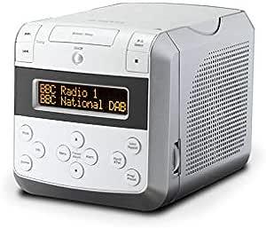 Roberts Sound48 Dab Radiowecker Dab Ukw Uhrenradio Wecker Mit Zwei Einstellbaren Weckzeiten Cd Player Bluetooth Snooze Funktion Sleeptimer Dimmbares Display Kopfhöreranschluss Weiß Heimkino Tv Video