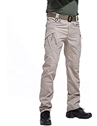 BWBIKE Pantalones tácticos al Aire Libre de los Hombres Pantalones de Trabajo de Combate de Carga