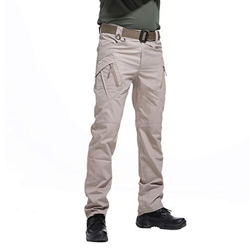 BWBIKE Herren Outdoor Taktische Hosen Cargo Combat Arbeitshose Militärische Outdoor Hose - Mens Tactical Hose Khaki