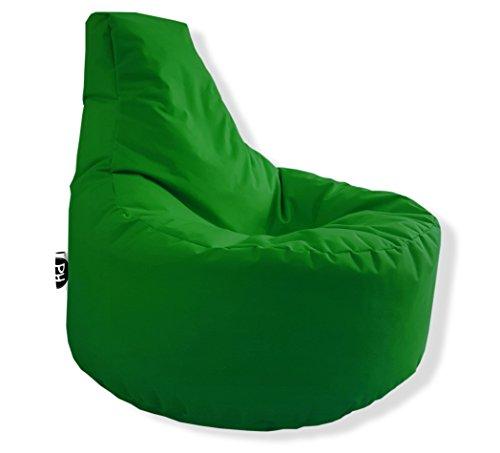 Patchhome Gamer Kissen Lounge Kissen Sitzsack Sessel Sitzkissen In & Outdoor geeignet fertig befüllt - Grün - in 25 Farben