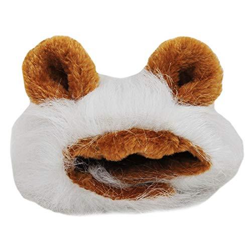 NoyoKere Lion Mähne Haustier Katze Hut Perücke Kostüm Cosplay Plüsch Plüsch mit ()