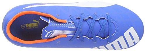 Puma evoSPEED 5.4 FG Jr, Chaussures de football mixte enfant Bleu - Blau (electric blue lemonade-white-orange clown fish 03)