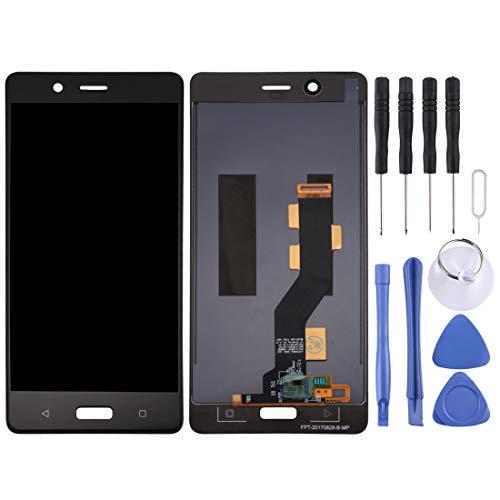 JIN-DE LCD Screen und Digitizer Full Assembly für Nokia 8 (Schwarz) (Color : Black) Middle Housing Assembly