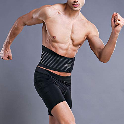 Professionelle Taillenschneider, Breathable Waist Support Belt, Hot Neoprene Sauna Waist Brace for Fitness, Weight Loss Ab Belt Support Workout Belly Fat Burner for Men,L (Therapeutische Back Support Brace)