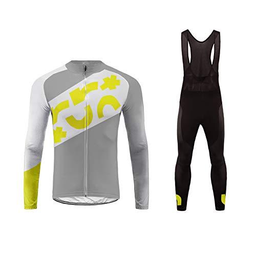 Uglyfrog Winter Radsport Anzüge Outdoor Sports Herren Langarm Radtrikot und Lange Hosen Set Gel Pad Größe XS-6XL