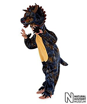 Natural History Museum Triceratops Fancy Dress Costume (Official Licensed) - Kids Costume 5 - 7 ()