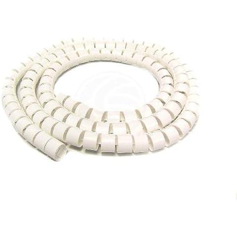 Cablematic - Cubre cables blanco de 20mm. Bobina de 2.5m