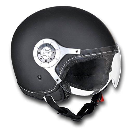 vidaXL Motorradhelm Motorrad Sturzhelm Rollerhelm Jethelm L schwarz 150008