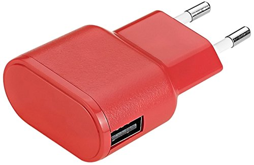 Aiino Apple Wall Charger USB-Netzteil Ladegerät Steckdose 1 USB Port 1A - Rot -