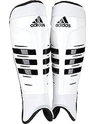 adidas deportes Tpu Shield Protección lavable Hockey espinilleras, color blanco/negro, color blanco/negro, tamaño XS