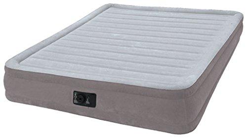 Intex Luftbett Comfort-Plush MID Queen (230 V), Grau, 152 x 203 x 33 cm (Queen-bett In Einem Beutel)