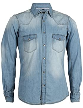Camicia jeans Thor silver wash slim fit
