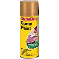 SupaDec Christmas Spray Paint 400ml Gold/Silver/Bright Red Available