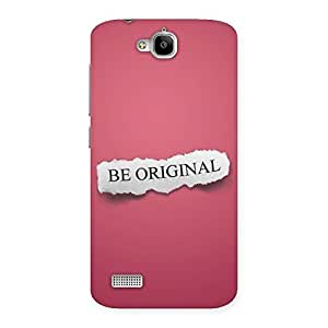 Gorgeous Be Orignal Multicolor Back Case Cover for Honor Holly