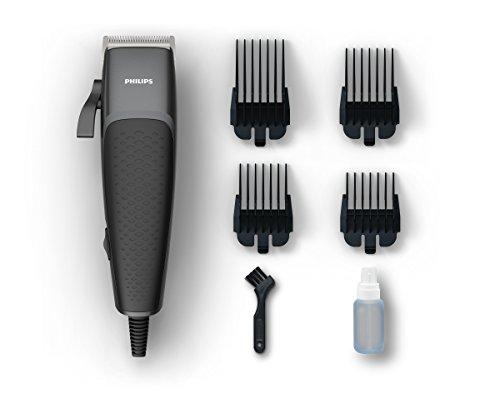 Philips hc3100 pro clipper tagliacapelli e regolabarba con motore lineare e lame tip2tip 100% inox, 4 pettini da 0.5-12 mm, cavo da 240 cm