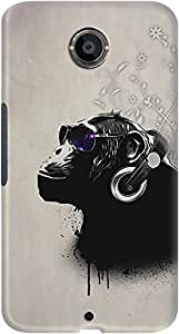 DailyObjects White Monkey Tripping Case For Google Nexus 6