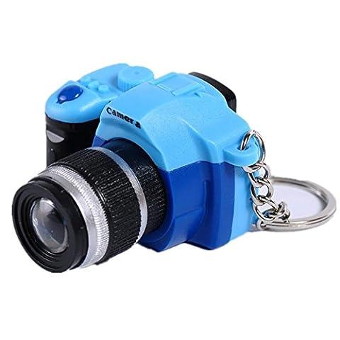 Hunpta LED Lovely Mini caméra Porte-clés Anneaux Chaîne Dessin animé Sac de voiture Femme Porte-clés