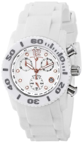 Swiss Legend 10128 – 02-RA – Wristwatch White women, Rubber Strap
