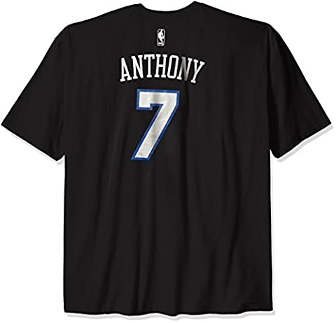 NBA New York Knicks Carmelo Anthony #7 Men's Game Time Feature Short Sleeve Tee, 3X, Black